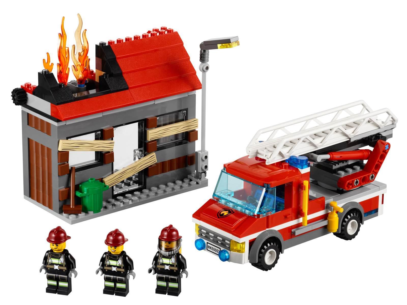 Lego L intervention du camion de pompier
