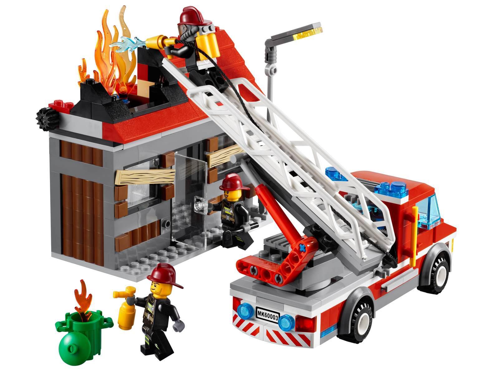 Lego l 39 intervention du camion de pompier - Lego camion police ...