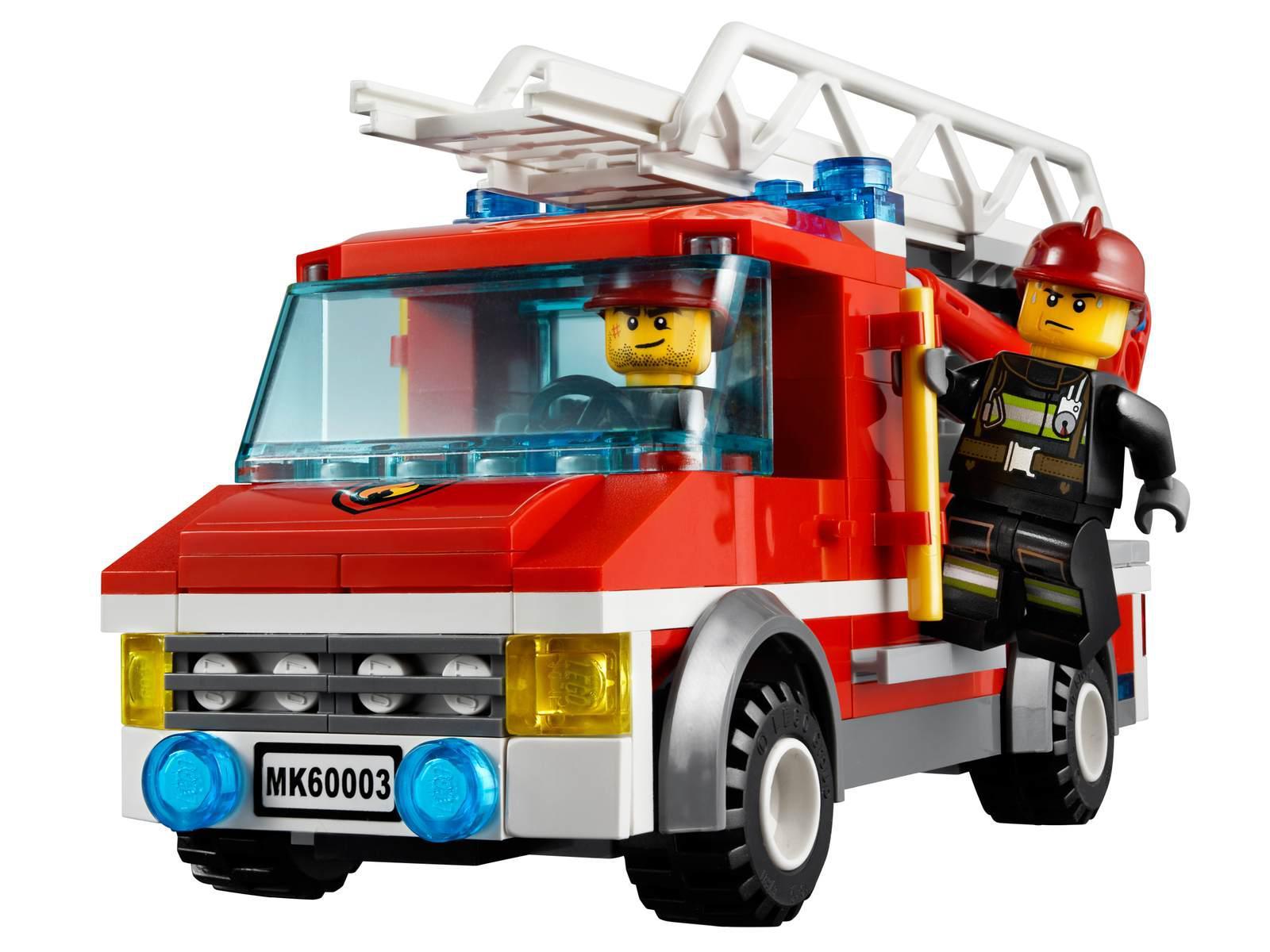 Lego l 39 intervention du camion de pompier - Image camion pompier ...