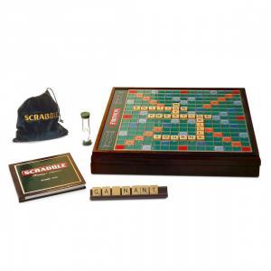 Megableu editions - 855049 - Scrabble prestige - plateau bois - dés 10 ans (199247)