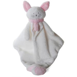 Dimpel - 822029 - Doudou chat Cleo blanc & rose (199743)