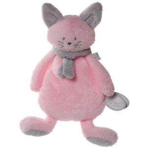 Dimpel - 822055 - Peluche chat crepe Cleo rose et gris clair (199747)