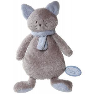 Dimpel - 822250 - Peluche chat crepe Cleo beige gris & bleu (199765)