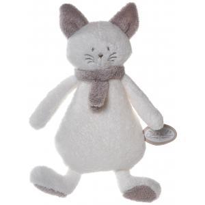 Dimpel - 822289 - Peluche chat crepe Cleo blanc & beige gris (199771)
