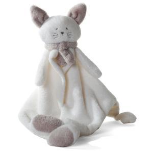 Dimpel - 822302 - Cléo doudou chat - blanc et beige-gris (199773)