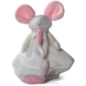 Dimpel - 822341 - Doudou souris Mona blanc & rose (199839)