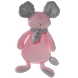 Dimpel - 822367 - Mona doudou plat - rose et gris-clair (199843)