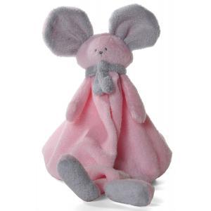 Dimpel - 822380 - Doudou souris Mona rose & gris clair (199845)