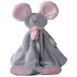 Dimpel - 822419 - Doudou souris Mona gris clair & rose (199851)