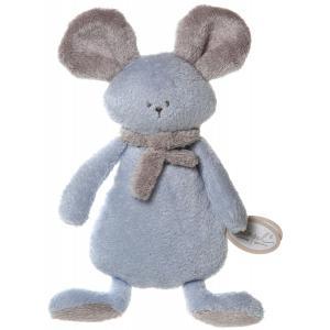 Dimpel - 822523 - Mona doudou plat - bleu et beige-gris (199855)