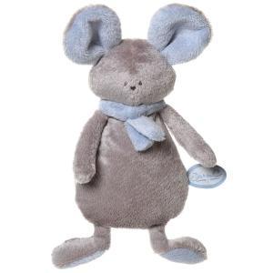 Dimpel - 822562 - Peluche souris crepe MONA beige gris & bleu (199861)