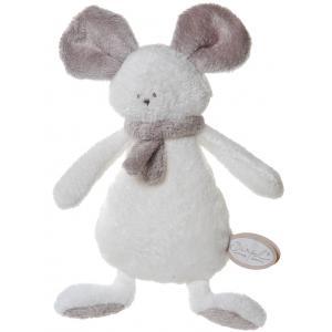 Dimpel - 822601 - Peluche souris crepe Mona blanc & beige gris (199867)