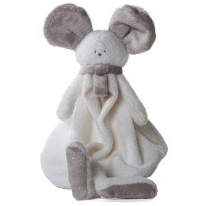 Dimpel - 822614 - Doudou souris Mona blanc & beige gris (199869)