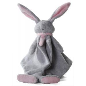 Dimpel - 822731 - Doudou lapin  Nina gris clair & rose (199891)