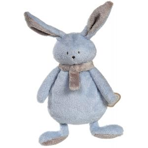 Dimpel - 822835 - Peluche lapin crepe NINA bleu & beige gris (199895)