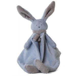 Dimpel - 822848 - Doudou lapin Nina bleu & beige gris (199897)