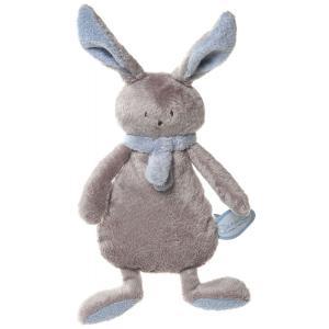Dimpel - 822874 - Peluche lapin crepe NINA beige gris & bleu (199901)
