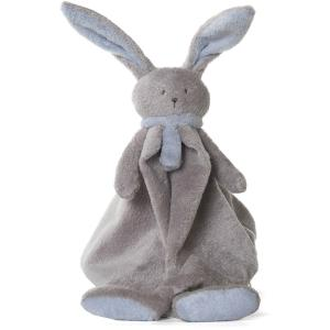 Dimpel - 822887 - Doudou lapin Nina beige gris & bleu (199903)