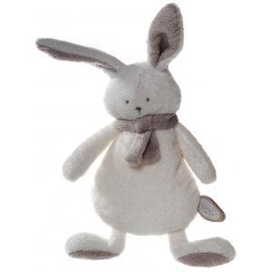 Dimpel - 822913 - Peluche lapin crepe Nina blanc & beige gris (199907)