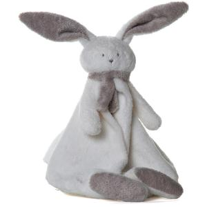 Dimpel - 822926 - Doudou lapin  Nina blanc & beige gris (199909)