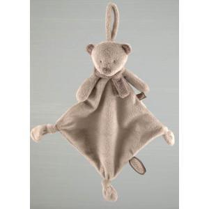 Dimpel - 882674 - Noann doudou ours attache-tétine - beige-gris (199933)