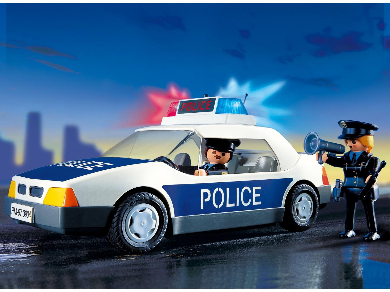 playmobil policiers voiture de police. Black Bedroom Furniture Sets. Home Design Ideas