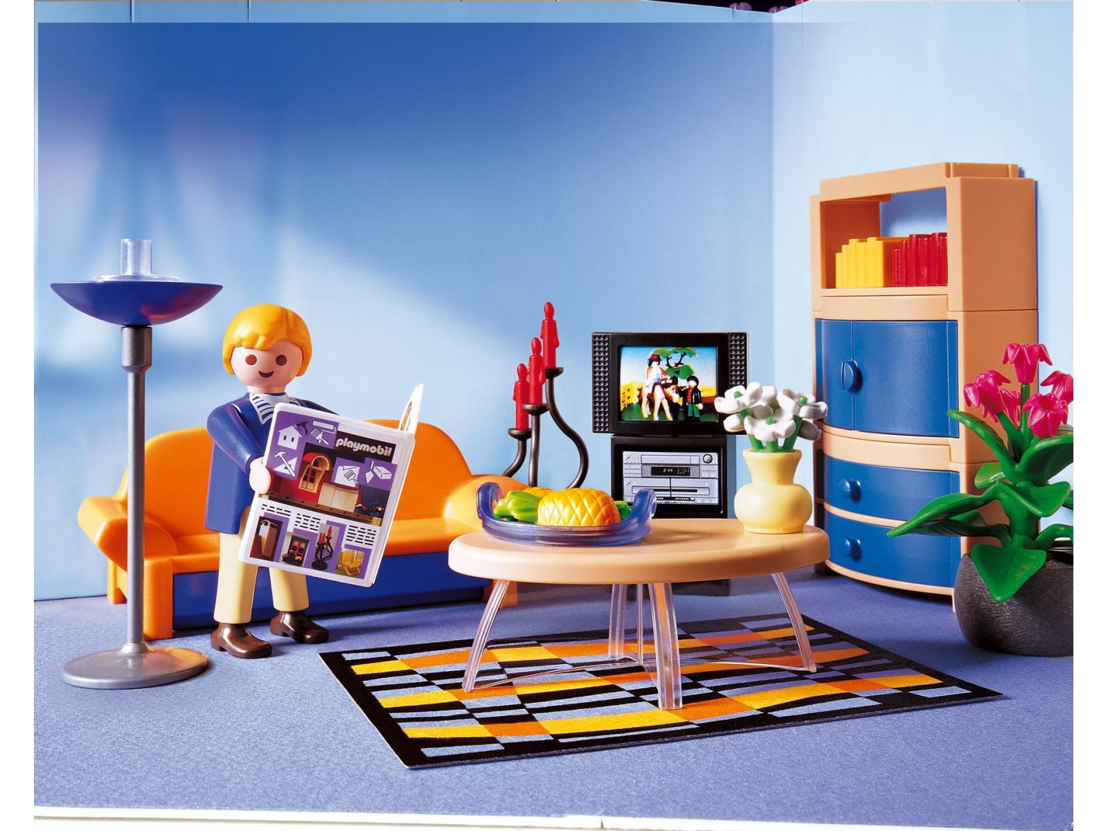 Salon villa moderne play mobil id es novatrices de la for Playmobil salon de coiffure