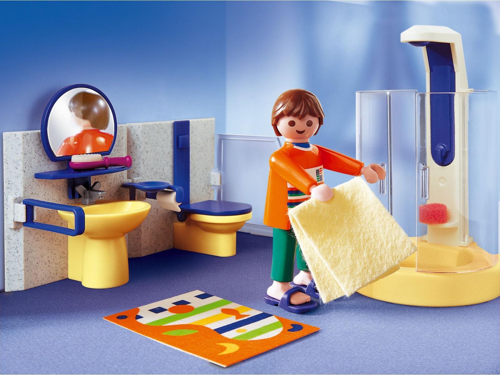 Playmobil papa salle de bains moderne for Prix salle de bain playmobil