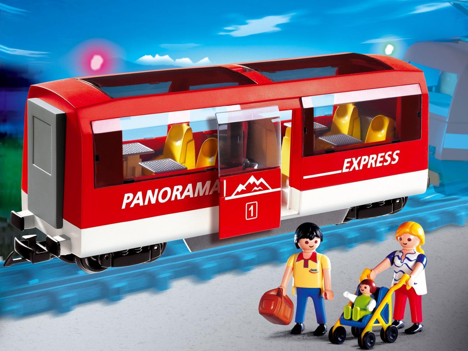 Playmobil voyageurs et wagon - Train playmobil ...