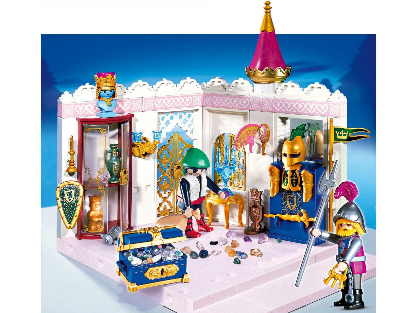 Playmobil garde et brigand avec chambre du tr sor for Carrosse princesse playmobil