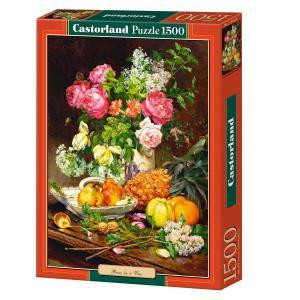 Castorland - 151202 - Puzzle 1500 pièces - Roses dans un Vase (207150)