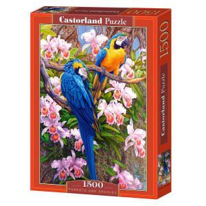 Castorland - 150861 - Puzzle 1500 pièces - Perroquets et orchidées (limited distribution!) (207216)
