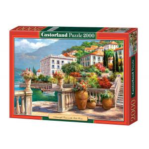 Castorland - 200450 - Puzzle 2000 pièces - Un Oasis de tranquillité sur le Lac de Côme (207258)