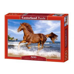 Castorland - 51175 - Puzzle 500 pièces - Un Cheval sur la Plage (207526)