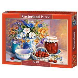 Castorland - 51816 - Puzzle 500 pièces - Cerises dans un Panier en Porcelaine (207594)