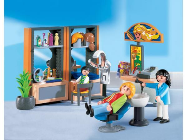 Playmobil coiffeuse salon de coiffure for Achat salon de coiffure