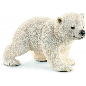 Schleich - 14708 - Figurine Ourson polaire marchant - Dimension : 6,5 cm x 4 cm x 4 cm (212390)