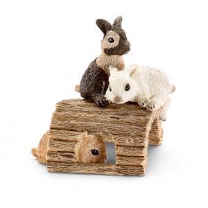 Schleich - 13748 - Figurine Jeunes lapins, jouant (212436)