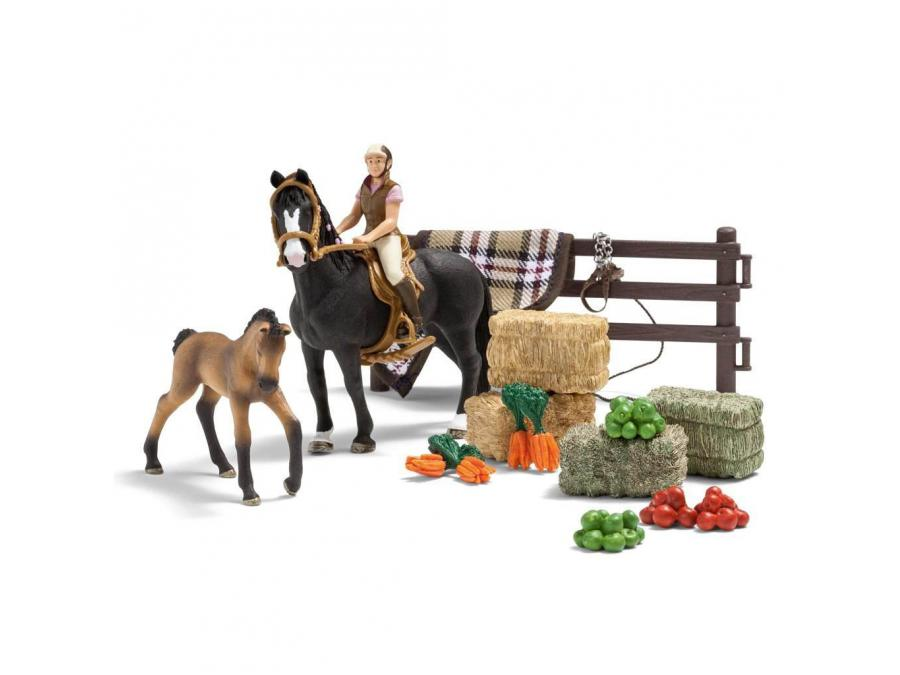 schleich centre questre avec accessoires pour figurines. Black Bedroom Furniture Sets. Home Design Ideas