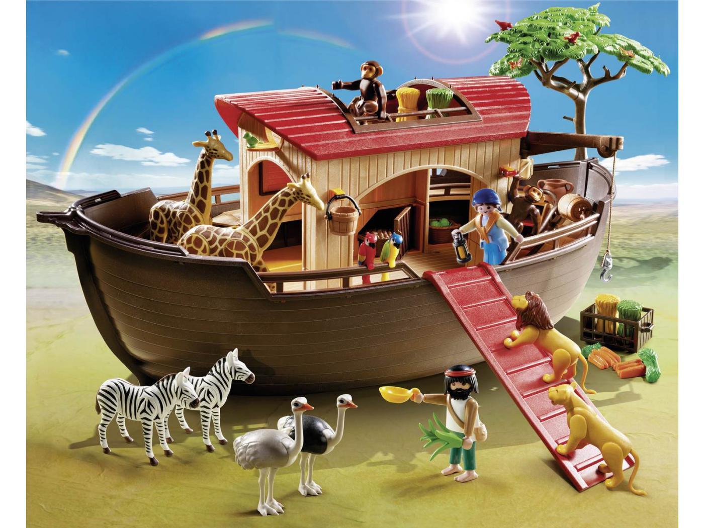 playmobil arche de no avec animaux de la savane. Black Bedroom Furniture Sets. Home Design Ideas