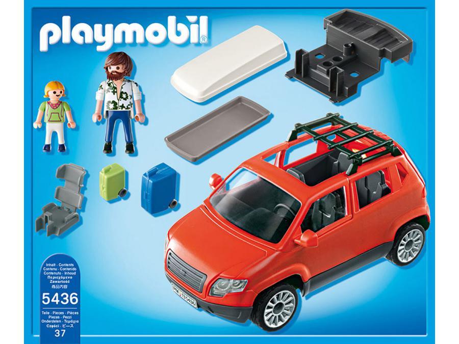 playmobil voiture avec coffre de toit. Black Bedroom Furniture Sets. Home Design Ideas