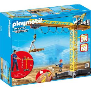 Playmobil - 5466 - Grande grue de chantier radio-commandée (213722)
