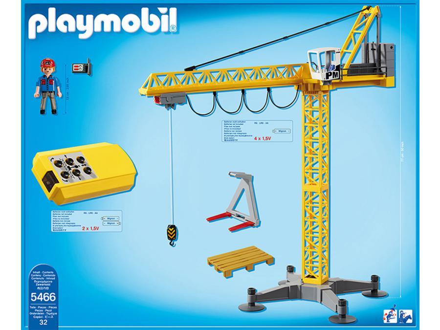 Playmobil grande grue de chantier radio command e - Jeux de grue de chantier ...