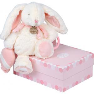 Doudou et compagnie - DC2583 - Pantin d'activités Lapin Bonbon  rose (215842)