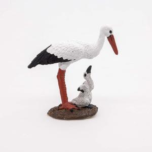Papo - 50159 - Cigogne et son bébé - Dim. 7,5 cm x 3,8 cm x 7,3 cm (216248)