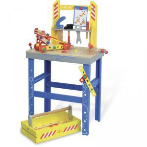 Vilac - 2131 - Grand établi Batibloc et son tiroir/boîte à outils (216392)