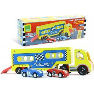 Vilac - 2336 - Semi-remorque + 2 voitures à rétrofriction (216414)