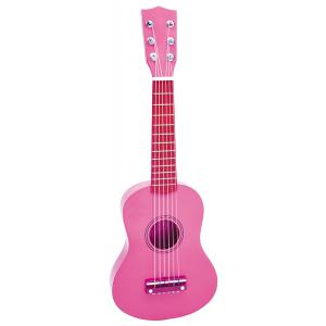 Bontempi - GSW5571/L - Guitare en bois, 55 cm, rose avec stickers (216844)