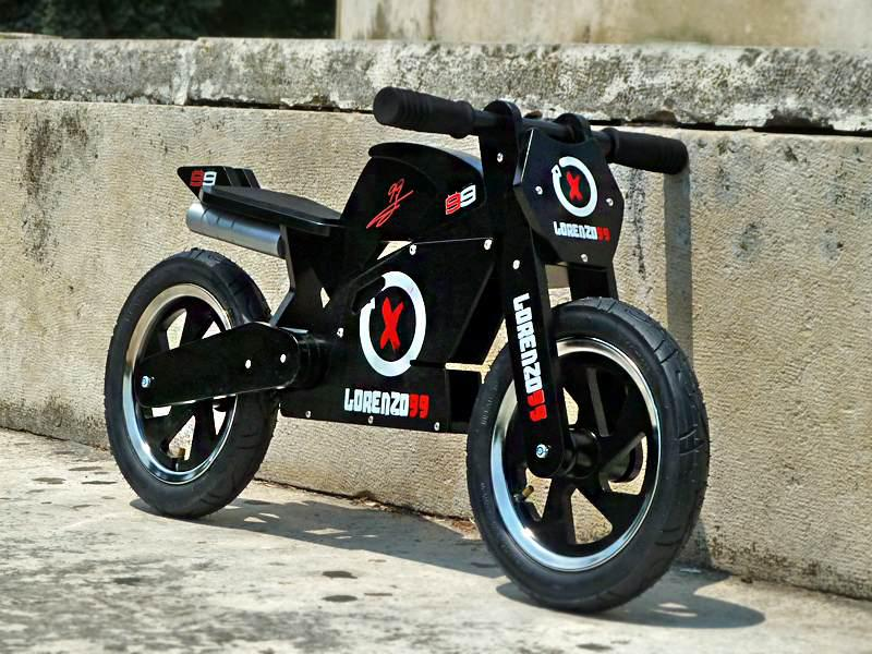 kiddimoto moto superbike hero jorge lorenzo black. Black Bedroom Furniture Sets. Home Design Ideas
