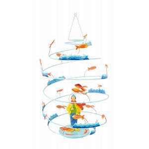 L'oiseau bateau - SPI0005 - Mobile métal Spirale  Garçon Pêcheur (218306)
